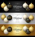 set luxury christmas sale horizontal banner vector image