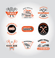 set of badge woodworking vector image vector image