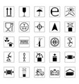 set of packing icons vector image vector image