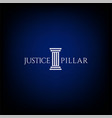 simple minimalist pillar attorney law firm logo vector image vector image