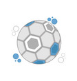soccer ball with the colors of argentina vector image