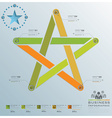 Star Shape Business Infographic vector image vector image