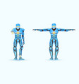 stylish cyborg man humanoid robot with artificial vector image vector image