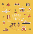 summer vibers square background vector image vector image