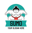 sumo logo with text space for your slogan vector image vector image