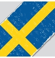 Swedish grunge flag vector image vector image