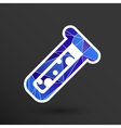 test icon fluid symbol flask glass vector image vector image