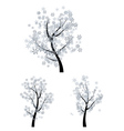 Trees with Snowflakes vector image
