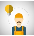 Under construction design supplies icon worker vector image vector image