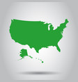usa map icon business cartography concept united vector image vector image