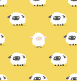 white sheep and black sheep pattern vector image vector image