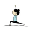 woman practicing yoga warrior pose vector image vector image