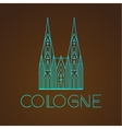 World famous Cologne cathedral Greatest Landmarks vector image vector image
