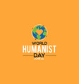 world humanist day celebrated on june every year vector image vector image