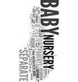 Your baby nursery text word cloud concept