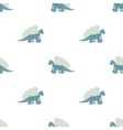 blue dinosaur on a white background vector image