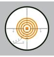 Sniper scope background vector image