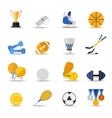 Set of sport isolated icons Flat style design vector image