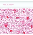 Love garden horizontal torn paper pattern vector image