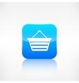 Shopping basket icon Application button vector image