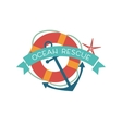 ocean style badges vector image