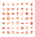 49 decoration icons vector image vector image
