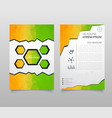 abstract triangle brochure flyer design in a4 vector image vector image