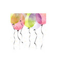 air balloons for background vector image vector image