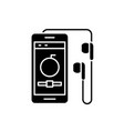 audio player black icon sign on isolated vector image