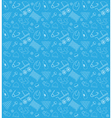 baby shower boy pattern set vector image