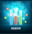 background with test-tubes vector image vector image