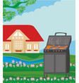 backyard barbecue vector image vector image