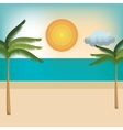 beach natural landscape vector image vector image