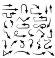 black arrows set bent icons vector image