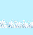 blue winter snow vector image vector image