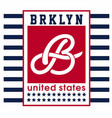 brooklyn united states vector image vector image
