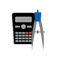 calculator and a compass icon vector image vector image
