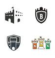 castle logo design vector image