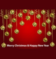 christmas and new year winter holiday web banner vector image