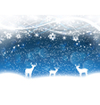christmas background with deer 2211 vector image vector image