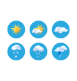 Collection of origami weather symbols vector image