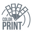 color print logo simple style vector image