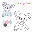 Coloring book koala bear kids layout for game vector image vector image
