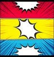 comic book horizontal banners vector image vector image