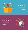 Cooking Concept Fried Eggs in a Frying Pan Soup in vector image vector image