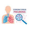 corona virus pneumonia disease lungs infection vector image vector image