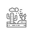 country landscape desert line icon vector image vector image