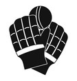 cricket gloves logo simple style vector image vector image