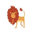 cute funny lion cub cartoon character vector image vector image