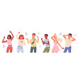 dancing people set young group dancers listen vector image